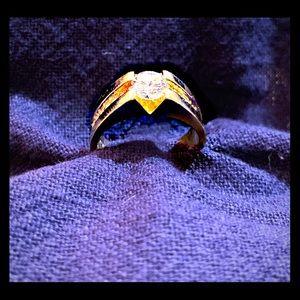 Men's Diamond Engagement Ring Designed by Myself.